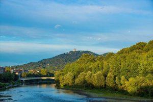 Il fiume Po vicino a Torino